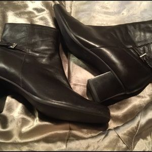 Unisa Shoes - Unisa Leather Ankle Boots w/ Buckle Embellishment